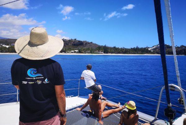 vue catamaran côtes reunion